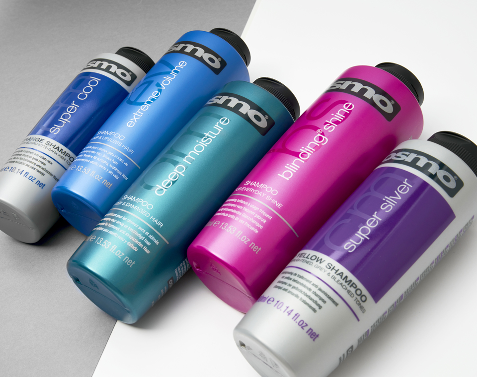OSMO shampoo bottles